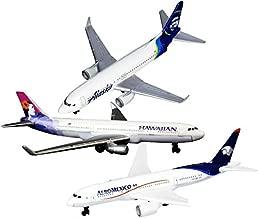 Daron Hawaiian Airlines, Alaska Airlines & AeroMexico Die-cast Planes Matty's Toy Stop Set Bundle - 3 Pack