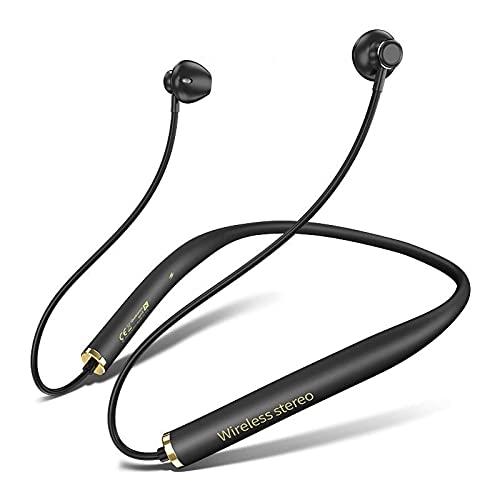 Bluetooth Headphones Wireless Earbuds Neckband Bluetooth Headphones Noise Cancelling with Microphone for Sports, Running Headphones