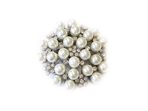 La Loria 2 Schuhclips -Bright Star- in Weiß Silber, Schmuck-Accessoire Schuhschmuck Brosche