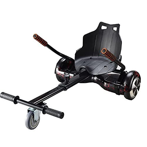 Go-Kart Soporte Silla De Scooter Self Balance para Derrapar Y Hacer Trucos para Todo Terreno para 6,5 8 10 Pulgadas Hoverboard Accesorios Smart Electric Scooter Unisex Adulto,Negro