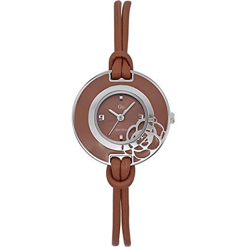 GO Girl Only 697869 - Reloj analógico de Cuarzo para Mujer con Correa de Piel, Color marrón