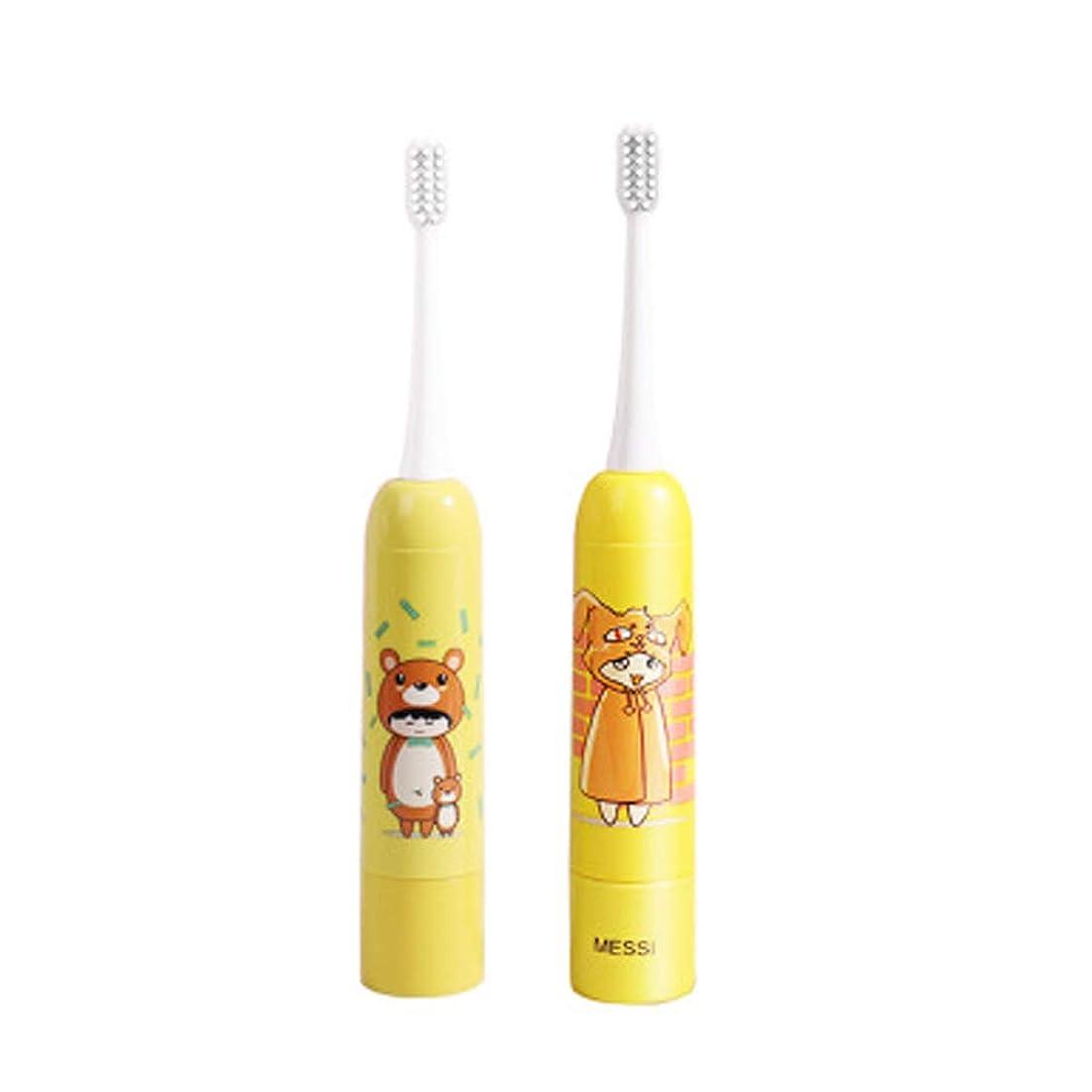 インスタンスタオルよろしくBobbyecho 電動歯ブラシ 子供 歯ブラシ ハブラシ すみずみクリーンやわらか 防水 音波歯ブラシ ブラシ こども用 ソニック電池 (女の子)