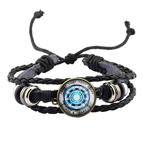 POTIY Iron Man Keychain Gift for Iron Man Fan Proof That Tony Stark Has A Heart Jewelry Tony Stark...