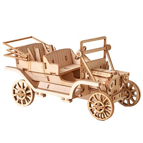 Artibetter Houten Montage Speelgoed Diy Puzzel Voertuig Speelgoed Mechanische Tandwielen Constructeur Kits 3D Puzzels Hersenkraker Spellen