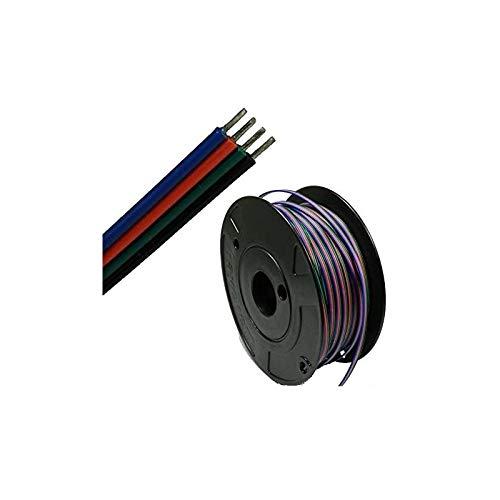 Câble LED RVB 5-100 m - Vendu au mètre - Câble de raccordement RGB pour LED (câble 100 m LED-RGB LED)