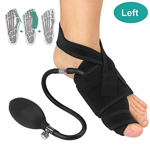 Corrector de juanetes inflable izquierdo derecho con soporte ortopédico neumático, férula de hallux valgus con barra para alivio del dolor nocturno, recuperación de cirugía de juanetes