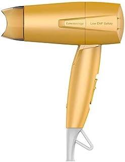 Secador de Pelo del hogar Tubo de Salida de Baja radiación de Iones Negativos bebé niños secador de Pelo (Color : Yellow)
