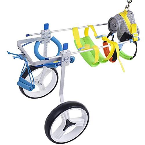 Arnés de movilidad ajustable para silla de ruedas para perros, Arnés de movilidad para perros para patas traseras de perros pequeños, Coche para discapacitados para caminar con asistencia para perro