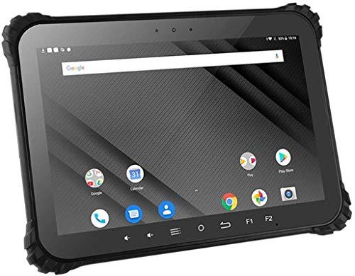 Escáner de código de barras de mano Android 8.1 Tableta resistente industrial con panel de cristal de Gorilla de 10.1 pulgadas, RAM de 3GB + 32GB ROM DIACTER Huella digital Desbloqueo GPS 3G 4G WIFI B