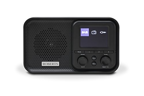 Roberts Radio PLAY M5Black portatile radio Nero/Bianco