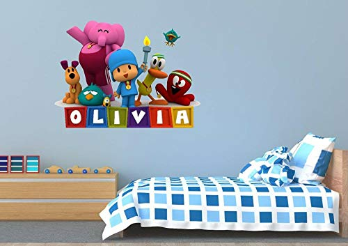 DQPCC Wall Sticker Personalized Name 3D Wall Decal Kids Sticker Decoration Vinyl Girl/Boy Wall