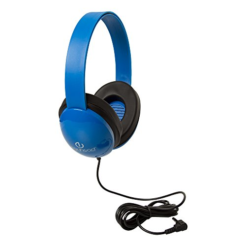 egghead egg-iag-1005-bl-so niños auriculares con Heavy Duty diadema ajustable y reducción de ruido almohadillas, color azul