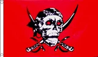 AZ FLAG Pirate Red Skull Flag 3' x 5' - Pirates Flags 90 x 150 cm - Banner 3x5 ft