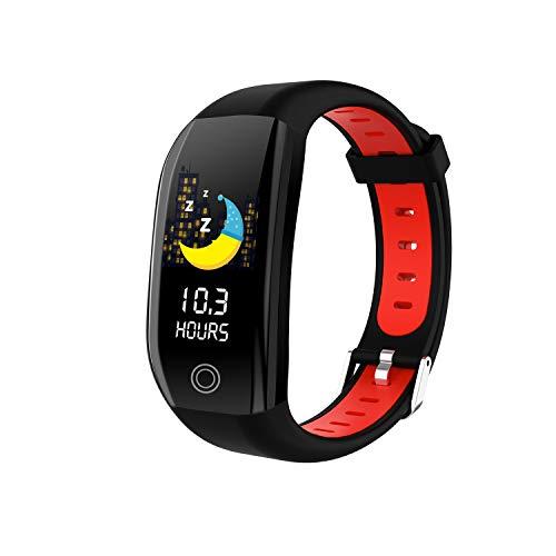 HQHOME Fitness Armband mit Pulsmesser Blutdruckmessung Smartwatch Fitness Tracker Wasserdicht IP68 Fitness Uhr Schrittzähler Pulsuhr Sportuhr für Damen Herren Kinder ios iPhone Android Handy