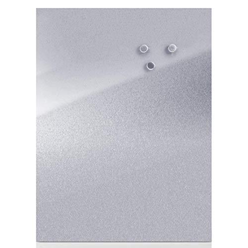 Zeller - Present ES 18/0- Pizarra magnética de acero inoxidable (40 x 60 cm)