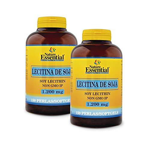 Nature Essential Lecitina de soja 1200 mg - 150 perlas, Pack 2 unididades