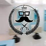 xinyouzhihi Man Barber Shop Aufkleber Chop Bread Decal Haarschneider Rasierer Poster Vinyl Wall Art...