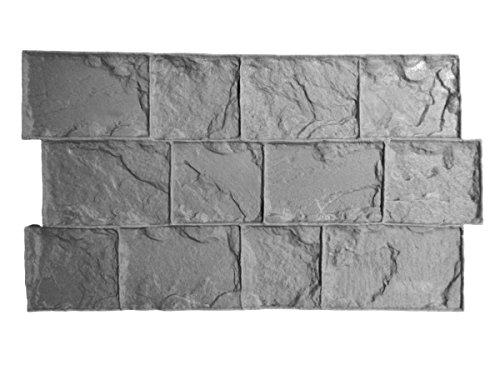 Roman Cobble Concrete Stamp Set by Walttools | Classic Decorative Cobblestone Pattern, Sturdy Polyurethane Texturing Mats, Realistic Detail (Flexible/Floppy)