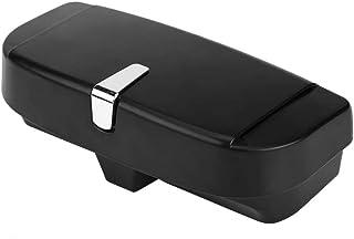 Auto Sonnenbrillenhalter, Auto vielseitig Sonnenbrillen Speicher Halter Clip Case Organizer Box Universal(Black)