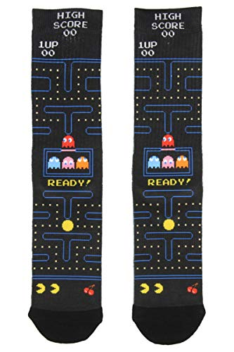 Pac-Man Sublimated All Over Print Crew Socks