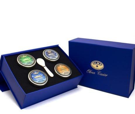 """Classic Caviar"" Black Caviar Gift Box - 4 oz of Favorite Caviar, Overnight Delivery"
