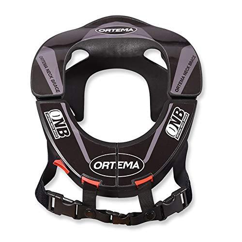 ORTEMA ONB Neck Brace Design K4 - Nackenschutz (Gr.L, Schwarz) - aus Hochleistungskunststoff und mit Sicherheits-Schnellverschluss