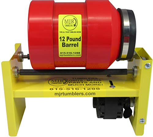MJR Tumblers 12 LB Rock Tumbler Awarded Best High End, Most Versatile Run 4 Dif Barrel Combinations