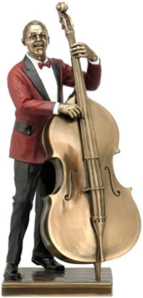 Double Bass Player Statue Sculpture Figurine Jazz Band Collection