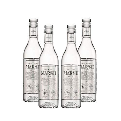 Ginebra Marsh Gin de 50 cl - Bodegas Barbadillo (Pack de 4...