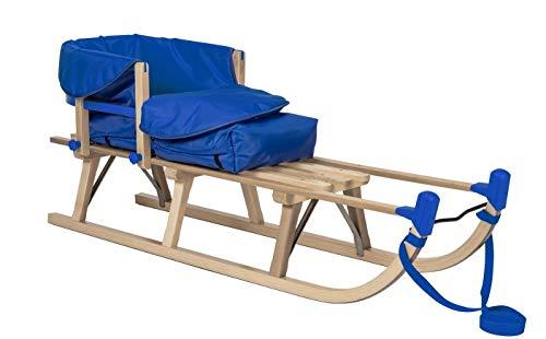 Impag® Davos-Schlitten 115 cm | 125 cm lang | europäisches Buche Massivholz | Sport-Qualität