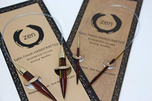 Zen Rosewood Circular Knitting Needles 32   US4 3.5mm