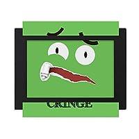 怖い緑の恐怖感情 デスクトップフォトフレーム画像ブラックは、芸術絵画7 x 9インチ