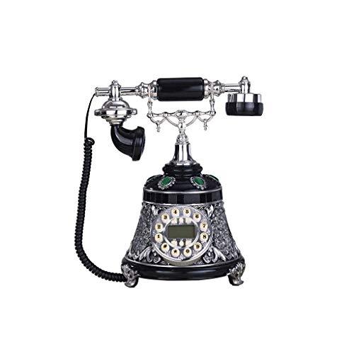 YUBIN Teléfono Teléfono Retro Estacionario Hogar Decoración Teléfono Botón Dial Office Lanzamiento Fijo