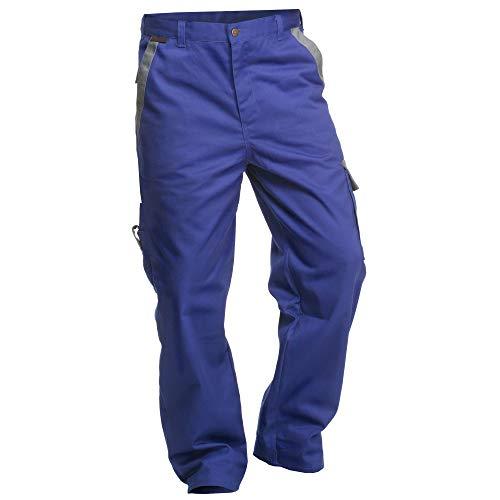 """'Charlie barato h13218kg/62-Pantalón de trabajo""""Sweat Life-Pantalón de peto para herramientas, grano azul/gris, 62cm"""
