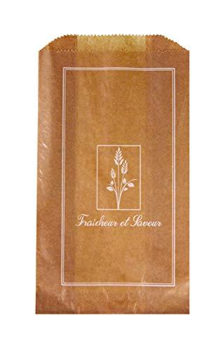 FaisTonGateau - Lot de 1000 sacs croissant kraft N°4-1000 sachets kraft brun