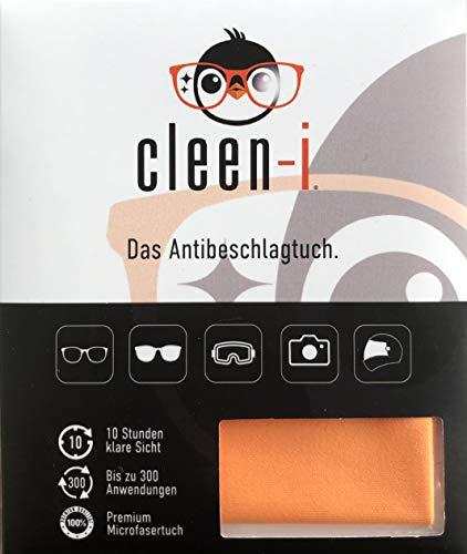 cleen-i Antibeschlagtuch, trockenes premium Mikrofasertuch, Reinigungstuch für Brillen, Brillenputztuch Antibeschlag, REACH u. OEKO-TEX 100 zertifiziert.
