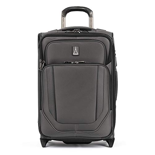 Travelpro Crew Versapack - Softside Expandable Upright Luggage, Vintage Grey, Carry-On 19-Inch