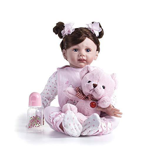 BM0141 Muñeca de bebé Reborn de silicona de vinilo realista para niñas y bebés muñecas de 55 cm de princesa realista juguete para niños regalo de cumpleaños
