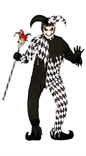FIESTAS GUIRCA Disfraz Hombre juglar Blanco y Negro Talla m