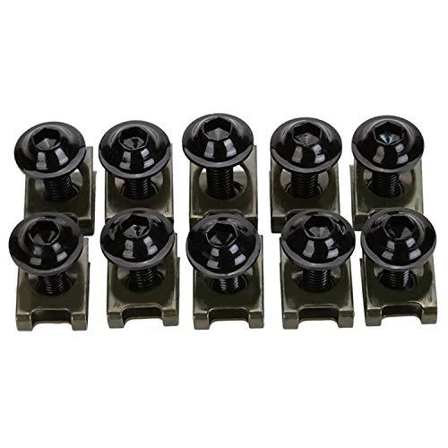 CICMOD 10x M6 CNC Tornillos Tuercas para Carenado 5×20mm para Moto Motocicletas Negro