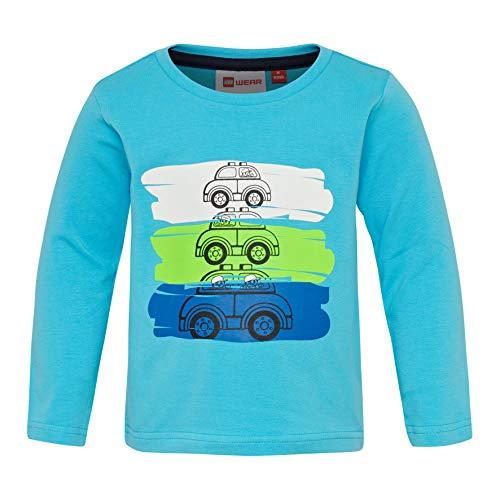 Lego Wear Duplo Boy Terrence 327-Langarmshirt T-Shirt À Manches Longues, Turquoise (Dark Turquise 772), 92 Bébé garçon