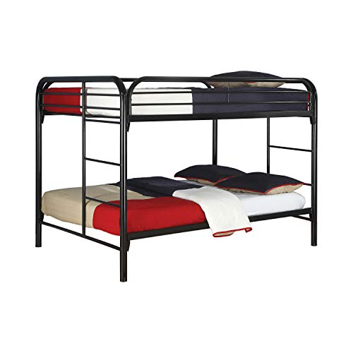 Coaster Fine Furniture 460056k Fordham, Litera Matrimonial con Escaleras Laterales de Metal, color Negro