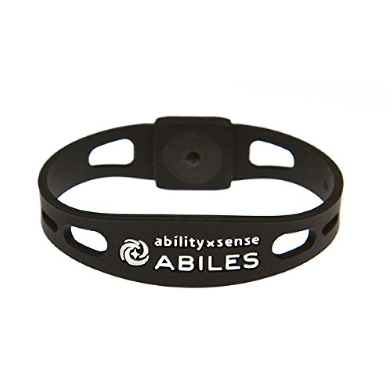 定義するリボンカプラー痛みの緩和 ABILES PLUS(アビリスプラス)ブレスレット&アンクレット ブラック(Mサイズ?18cm)