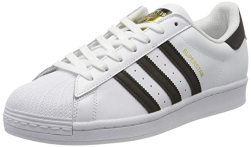 adidas Originals Mens Superstar Sneaker, Footwear White/Core Black/Footwear White, 40 EU