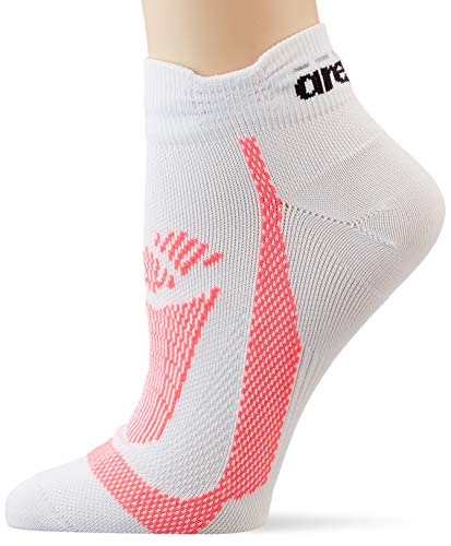 ARENA Erwachsene Unisex Lauf Socken Tech Sportsocken, White-Fluo red, M