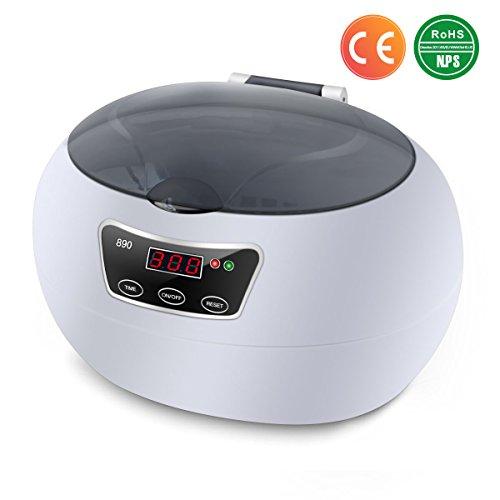 Ultrasonic Cleaner para Gafas, Joyas y Relojes, Acero Inoxidable, 600 ml...