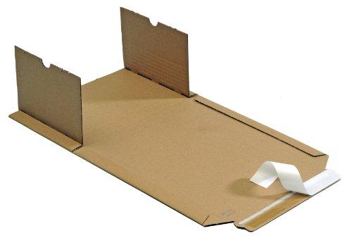 100 St MW354e Wickelverpackungen 245x165 mm Innenmaß mit 20-70 mm Füllhöhe Buchverpackungen