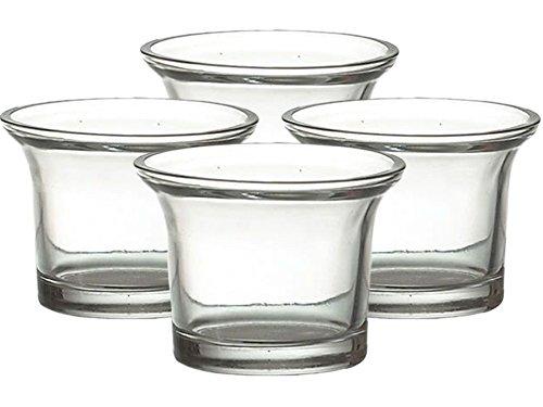 12 Teelichtgläser, Votivkerzengläser,Topfform, Ø 6,5cm, Teelichthalter, Teelichtglas, Nordlicht-Kontor exclusiv (Klar)