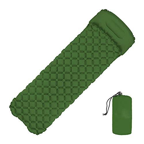 BESTSOON Colchoneta inflable para cama de coche, con relleno rápido, para acampar, para viajes al aire libre y camping (tamaño: talla única; color: verde)