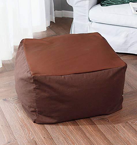 JHLD Sitzsack Bezug, Eckig Sitzsack Stühle Sofabezug (ohne Füllung) Mit Gefüttert Einfach Zu Säubern Faul Sitzsack Sofabezug Für Kinder Erwachsene-Kaffee-Eckig